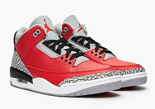 Jordan Air 3 Retro SE, Basketball Shoe Bebé-Niños, Rojo Pasión/Cement Grey/Negro, 22 EU