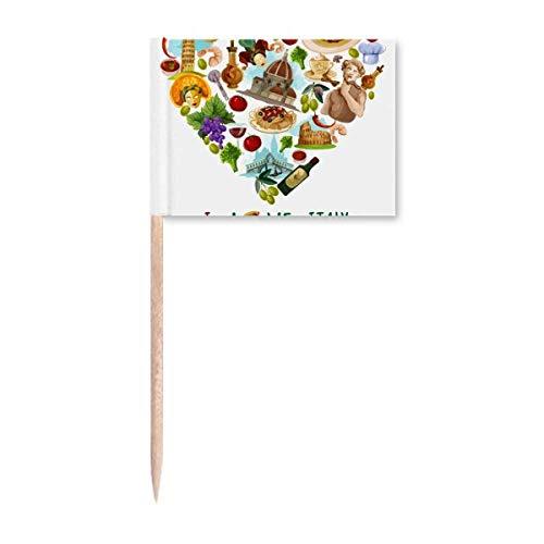 Banderas de palillo de dientes, diseño de torre de Pisa Roma