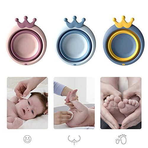 Blcnk Chi Paquete de 3 lavabos Plegables para bebés, Lavabo portátil Multiusos para bebés, Lavabo para el hogar, Cocina, bañera Plegable para bebés