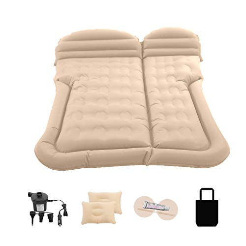 Inflatable Car Mattress Removable Car Inflatable Bed Portable Travel Camping Mattress Resuable Road Trips Sleep Bed
