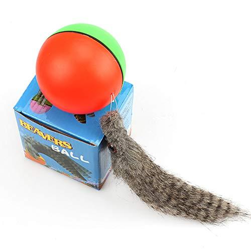 Cestbon 3 Stück Ball Batteriebetriebener Ball Hunde Katzen Spielzeug,Katzenspielzeug Elektrisch Katzenball Interaktives Spielzeug,3