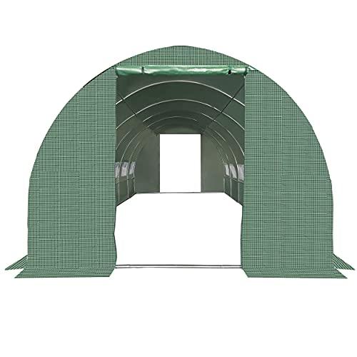Plonos Foliengewächshaus Gartentunnel Folientunnel Treibhaus Garten 250 x 400 x 200 cm 10m2