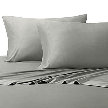 Royal Tradition Ultra Soft & Exquisitely Silky 100% Viscose from Bamboo Sheet Set, Hypo-Allergenic, King, Gray