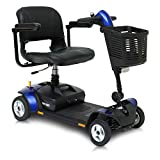 Pride Mobility Go-Go Elite Traveller LX – 4 Wheel Mobility Scooter Electric Scooters for Adult (Blue)
