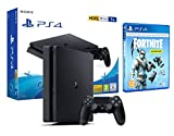 PS4 Slim 1Tb Negra Playstation 4 + Fortnite Lote de Criogenización [Incl 1000 paVos]