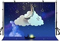 HD月の背景ボートの背景写真の背景カスタマイズされたスタジオの写真撮影の背景の背景スタジオの小道具10X7ft LYLS023