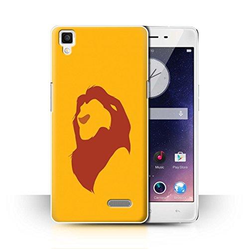 Hülle Für Oppo R7 Karikatur Afrikanische Tiere Simba Inspiriert Design Transparent Ultra Dünn Klar Hart Schutz Handyhülle Case
