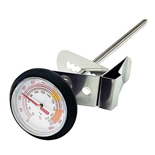Mopoin Kochthermometer, Grillthermometer Edelstahl-Thermometer für Kaffee, Milch, Grillen, Essen Kochen (10Cm)
