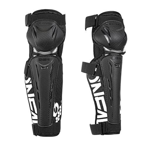 O'NEAL | Knieprotektor | Mountainbike MTB Downhill | Leichtgewichtig & atmungsaktiv, Kunststoff in Carbon-Look, EU 2016/427 | Trail FR Carbon Look Knee Guard | Erwachsene | Schwarz Weiß | Größe M