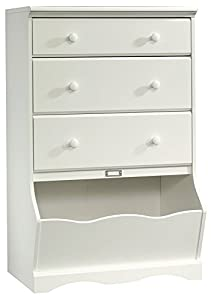 Safety tested for stability to help reduce tip-over accidents Drawers with metal runners and safety stops feature patented T-lock assembly system Storage bin features ID tag Detailing includes solid wood knobs This chest has been thoroughly tested in...