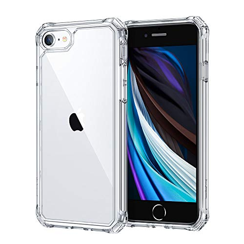 ESR Air Armor Designed for iPhone SE 2020 Case/iPhone 8 Case ShockAbsorbing ScratchResistant Military Grade Protection Hard Polycarbonate  Flexible Polymer Frame for iPhone SE 2020/8 Clear