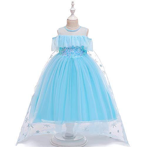KLJJQAQ Frozen Prinses Jurken Kinderen Aisha Prinses Jurken Meisjes Kostuums Halloween Show Jurken