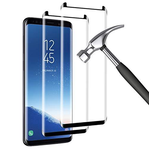 Mriaiz [2-Pack Protector Pantalla Compatible con Samsung Galaxy S8, [9H Dureza] [Alta Definicion] [Anti Rasguños], Cristal Vidrio Templado/Protector de Pantalla para Samsung Galaxy S8
