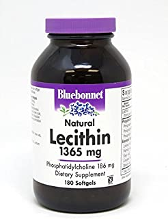 Bluebonnet Nutrition Lecithin 1365 mg, 180 softgels