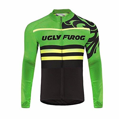 Uglyfrog Frühling Jersey Thermisches Fahrradtrikot Polyester Gemütlich Langarm Shirt Herren Breathable Radfahren Fahrrad Lange Hülsen Fahrrad Hemd Männer Langarm Fahrradbekleidung Radfahren
