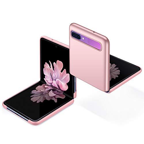 anccer Kompatibel mit Samsung Galaxy Z Flip Hülle [Serie Matte] Elastische Schockabsorption & Ultra dünnes Handyhülle Design für Samsung Galaxy Z Flip (Glattes Rosen Gold)