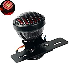 TUINCYN Red Motorcycle Tail Light with License Plate Holder Black Heavy Duty Motorcycle 12V Indicators Blinkers Lights Brake Stop Running Light for Harley Aprilia BMW Ducati Suzuki Yamaha 1-Pack