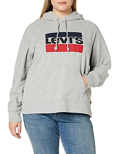 Levi's Batwing Hoodie, cappuccio Donna, Grigio (Sportswear Hoodie Smokestack Htr 0000), Medium