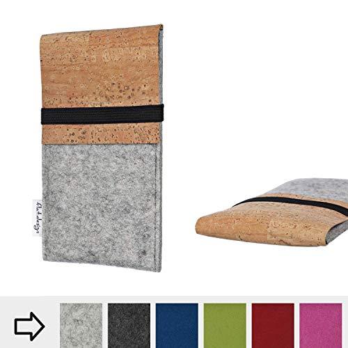 flat.design Handy Hülle SAGRES für Shift Shift6m handgefertigte Handytasche Filz Tasche Schutz Case fair Kork