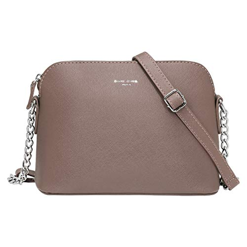 David Jones - Piccola Borsa a Tracolla Spalla Donna Catena - Borsa Mano PU Pelle Messenger Crossbody Bag - Clutch Borsetta Sera Pochette Moda Elegante - Shopping Viaggio Sacchetto Borsello - Talpa
