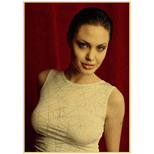 Prettygirl Angelina Jolie venenosa Lara CRO Tomb Raider Carteles e Impresiones Vintage Lienzo Arte de la Pared Pinturas para la decoración del hogar de la Sala de Estar -50x70 cm Sin Marco
