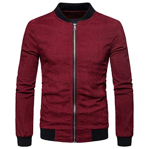 ZCZH Herren Sweatjacke College Full Zip Jacke Casual Softshell Sportjacke Business Cardigan...