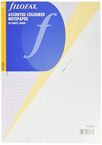 Filofax 293054 Notizpapier A4, liniert, bunt