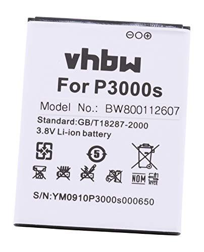 vhbw Li-Ion batería 3150mAh (3.8V) para teléfono móvil Smartphone Elephone P3000, P3000s por SCMI2S12A20029821.