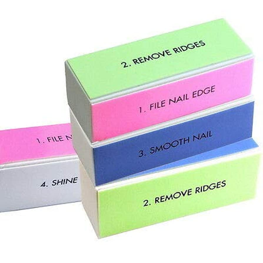 帽子ストラップ分散FidgetGear 10 PCS 4 way nail art files buffer buffing sanding block shiner nail care tool