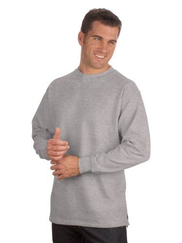 Qualityshirts Basic Sweatshirt, Gr. XL, Silber