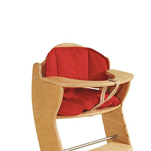 Sitzverkleinerer rot 2-teilig für Treppenhochstühle wasserabweisend • Baby Hochstuhl Stuhl Sitz Kissen Auflage Kinder Rot 2 Teile