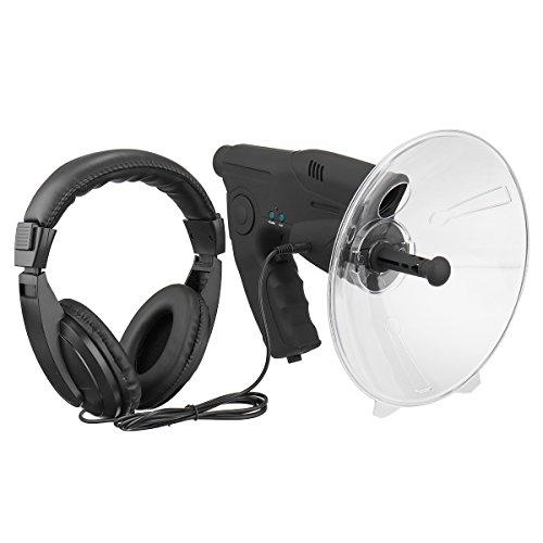 TENGGO Micrófono Parabólico X8 Monocular Bionic Oído Largo Alcance Aves Escucha Telescopio 200 M