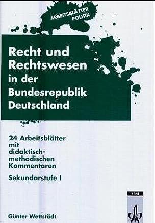 Arbeitsblätter Politik Recht Und Rechtswesen In Der