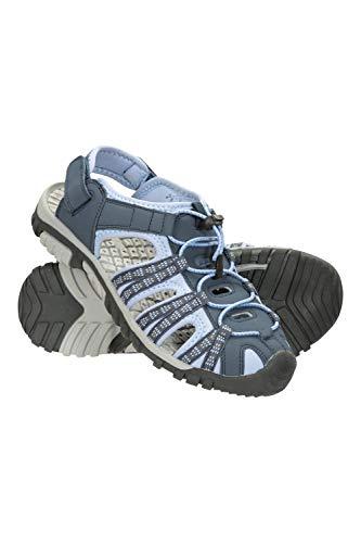 Mountain Warehouse Sandales Femmes Trek -Doublure en Néoprène, Chaussures de Plage avec Semelle Durable, Semelle intérieure EVA, Ajustables-pour la Marche et la Plage Bleu Clair 40