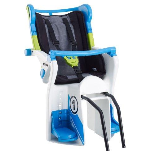 Kettler 08947-590 Flipper - Asiento Infantil para Bicicletas, Color Azul y Blanco