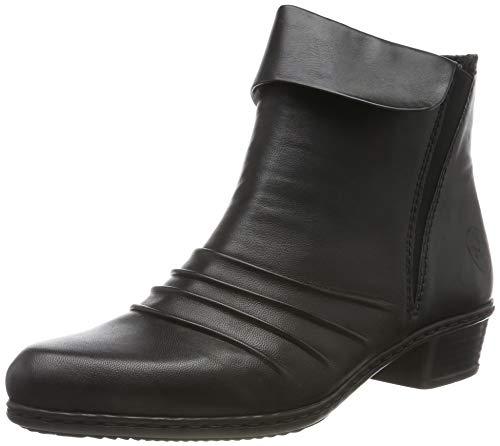 Rieker Damen Y07H4 Stiefeletten, Schwarz (schwarz/schwarz / 00 00), 38 EU