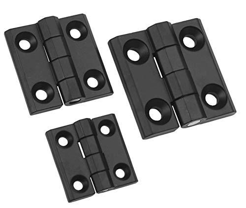 Kunststoff und Metallscharniere in 2 Materialien und 6 Größen (60x60mm Zink)