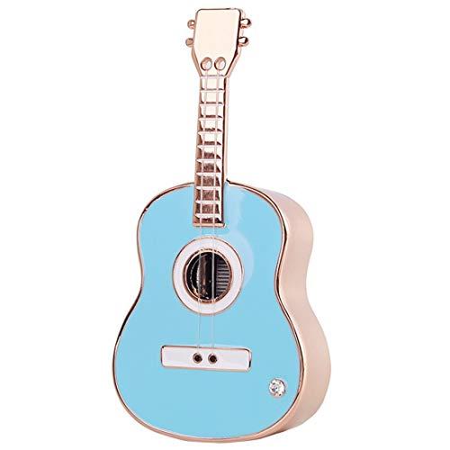 RongDuosi Creatieve Gitaar Klok Muziekdoos Violin Sky City Mini Muziekdoos Stuur Vriendin Meisje Verjaardagscadeau Mooie huisdecoratie voor woonkamer