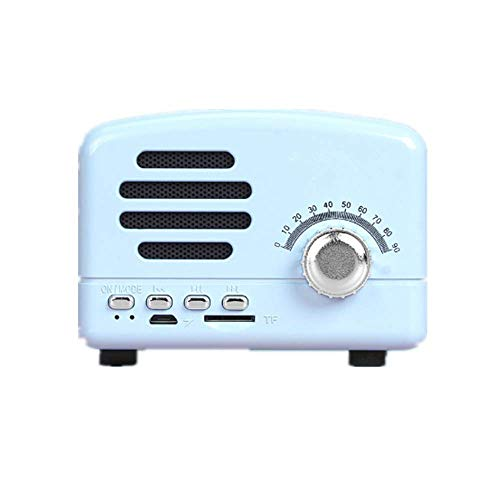 Local Makes A Comeback - Altavoz Bluetooth Retro, Radio Inteligente Inalámbrica, Bajo, Tarjeta de Audio, Mini Regalo Creativo, Azul