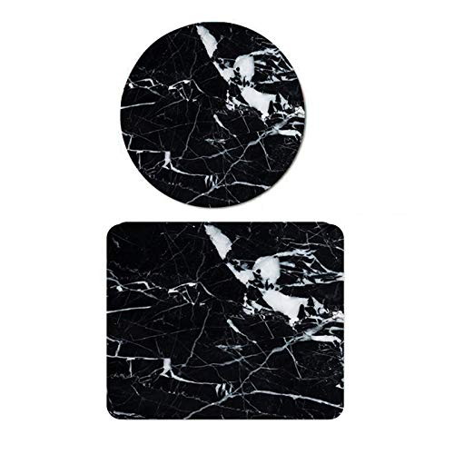 Gaming Mouse Pad Marble Round + Square Mouse Mat Waterproof Pad for Computer Laptop for Desktops, Computer, PC and Laptops (Color 05)