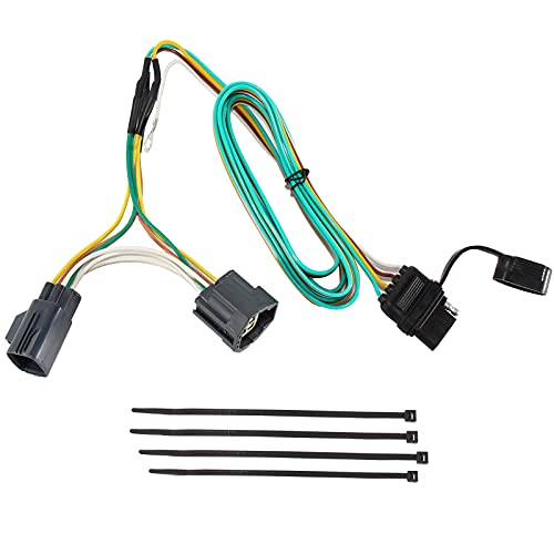 RED WOLF 74 Inch 4-Way Flat Jeep Tow Hitch Trailer Wiring Harness Compatible With Jeep 2007-2018...