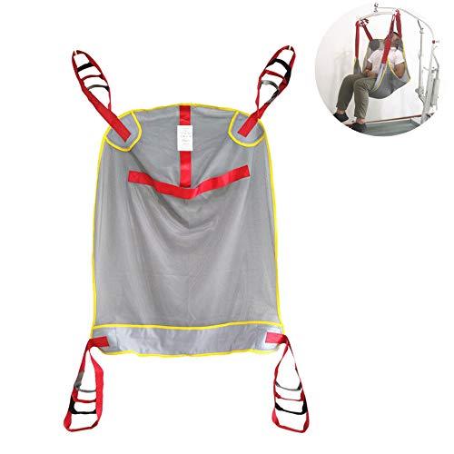 41N0EkVrYPL - DZWJ Esparcidor de Honda de protección Transpirable en Forma de Red Ayuda al Paciente Bariátrica Resistente de Malla de Cuerpo Completo Eslinga de elevación del Paciente