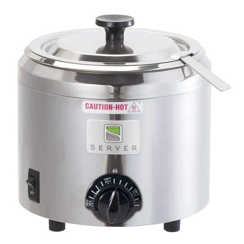 Server Products FS-2-82700 Small Capacity Warmer with Bowl, Lid and Ladle, 1-1/2 Quart, Black/Stainless Steel