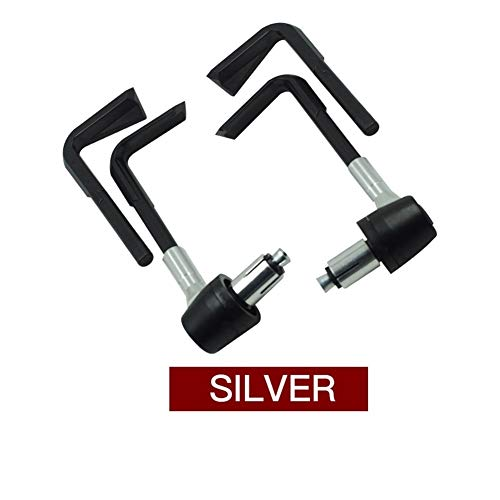 ShanShan Mu 7/8 inch 22 mm CNC motorstuur Proguard remhendel koppelingsbeveiliging verstelbaar Grip Guard for H O N D A M H A Suzuki (kleur: zilver)