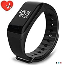 YTGOOD Smart Wristband Watch Waterproof Medication Reminder Fitness Tracker Pedometer Sport Bracelet Black