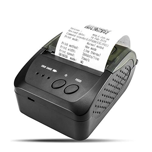 NETUM Wireless Bluetooth Receipt Thermal Printer (UK Plug), Portable Personal Bill Printer 2 Inches 58mm Mini USB POS Printer for Restaurant Sales Retail Compatible with Android/PC/Windows/Linux