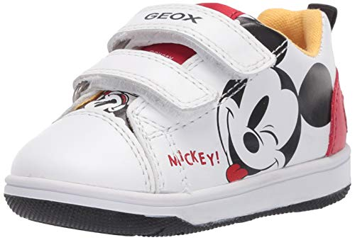 Geox Baby-Jungen B New Flick Boy A Sneaker, White/RED, 23 EU