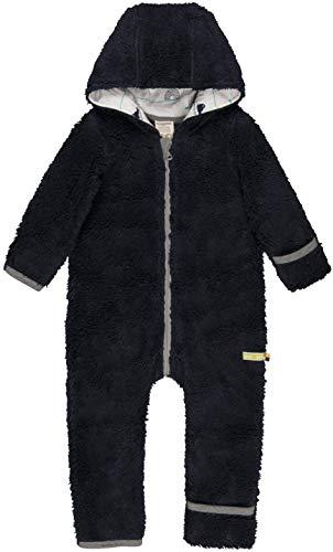 loud + proud Baby-Unisex Overall Plüsch Aus Bio Baumwolle, GOTS Zertifiziert Schneeanzug, Blau (Midnight Mi), 56 (Herstellergröße: 50/56)