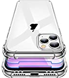 Garegce Cover Compatibile con iPhone 11 Pro con 2 Pezzi Vetro Temperato, Silicone Sottile Antiurto AntiGraffio Protettiva Custodia Compatibile con iPhone 11 Pro - 5.8 Pollici - Trasparente