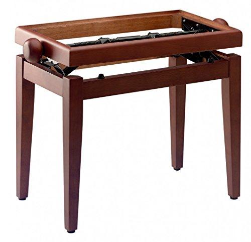 Stagg 20200 model PB 45 kersenpianobank (zitvlak: 55x 32 cm, in hoogte verstelbaar: 46-55 cm, verwisselbare zitkussen) mat